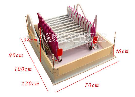 经典半自动伸缩楼梯 (红-白)