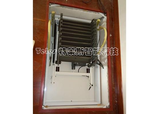 经典电动伸缩楼梯--(灰黑-白)