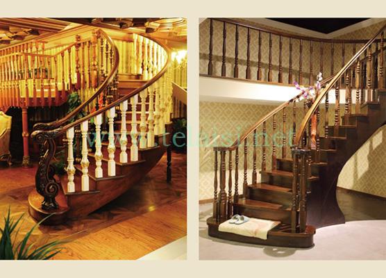 实木楼梯---高端典雅