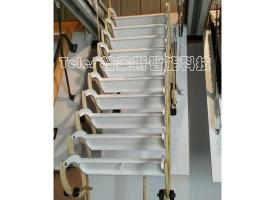 经典手动伸缩楼梯 黄-白