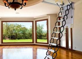 经典手动伸缩楼梯--颜色开孔结构可定制